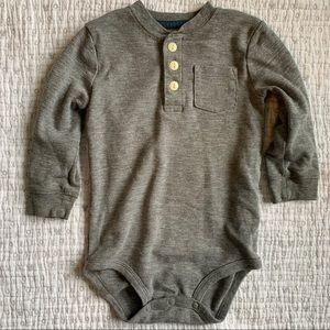 Gray button down onesie from OshKosh